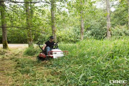 Count on your equipment rental pro, and your Orec Brush Rover, to do the job right!