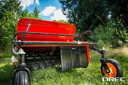 The Orec Cyclone Flail Mower makes weed clearing a breeze with its mulching flail knives.
