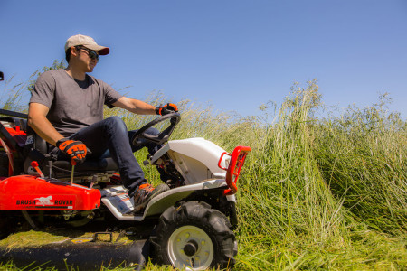 Want a ride on that gets under trees and gives a great cut? Try the Brush Rover!